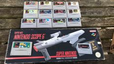 Snes lot with 13 games and a scope in the box