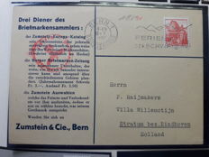 Switzerland 1920/1940 - collection of letters and stamps