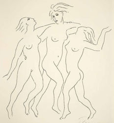"""Elmyr de Hory - """"Danseuses Nues"""" in the Style of Picasso"""
