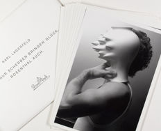 Complete Set of 10 oversized postcards by KARL LAGERFELD for 'Rosenthal'