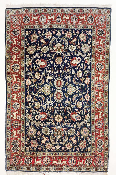 Persian rug, very fine Ghom with silk, 210 x 140 cm