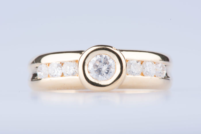 Ring in 18 kt yellow gold, Size: EU 51, US 5 1/2