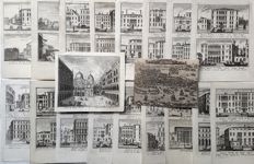 19 topographical prints by various artists - Views of Venice - 18th century