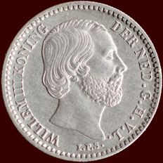 The Netherlands – 10 cent 1862 Willem III – silver