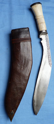 Original WW2 1943 Dated and Named Gurkha Kukri and Scabbard