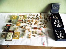More than 50 pieces of copper and porcelain miniatures model making dollhouse - Lundby - Reutter