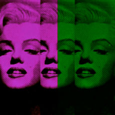 Felix von Altersheim - Marilyn Monroe - Silver Neon Pink Green - Collage - Pop Art PUR