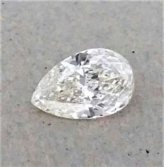 Pear Shape - 0.90 carat - H color - VS1 clarity - Natural Diamond Comes With IGL Certificate + Laser Inscription On Girdle