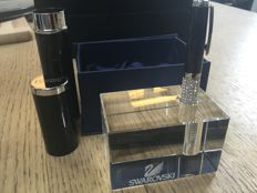 Charles Dickens ballpoint pen with Swarovski stones and crystal pen holder.