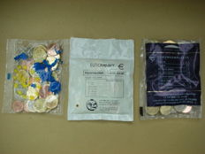 "Europe - 1 cent through 2 Euros 2002/2014 ""Starter Kits"" (3 different) in original packaging"