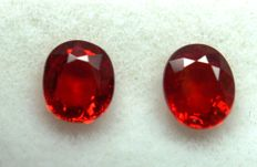 Ruby  Pair - 0.98 ct.  Total  ***No Reserve***