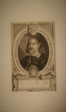 Alvise Contarini ( 1597 - 1651), by Peter de Jode after a painting by Anselm van Hulle - 1701