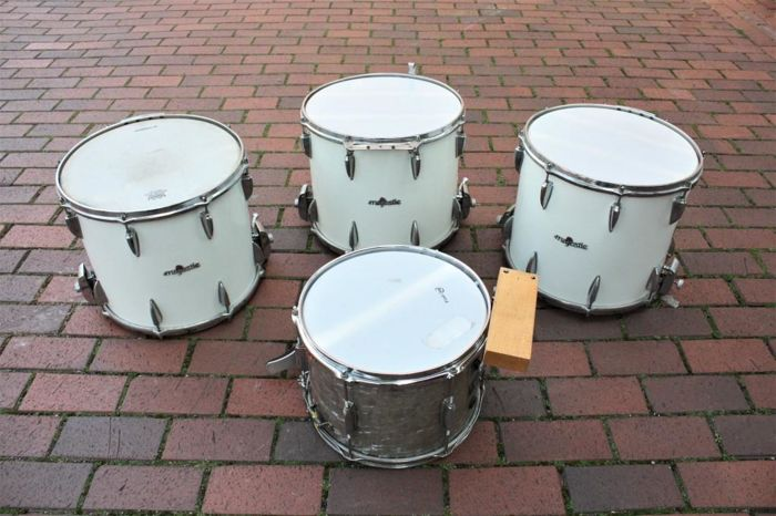 Majestic brass band snare drums 14x6 inch + Snare 13 inch
