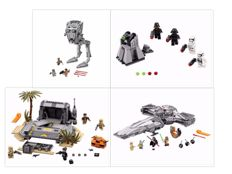 Star Wars - 75153 + 75096 + 75171  + 75132 - AT-ST + Sith Infiltrator + Battle on Scarif + First Order Battle Pack