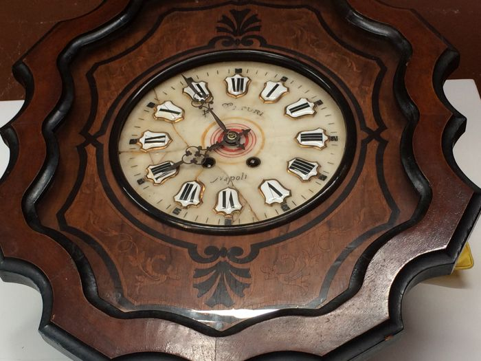 Wall grandfather clock -- 19th century -- Naples