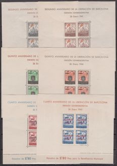 Barcelona 1930/1945 - Stamps - Individual stamps, series, blocks and sheets in varying quantities