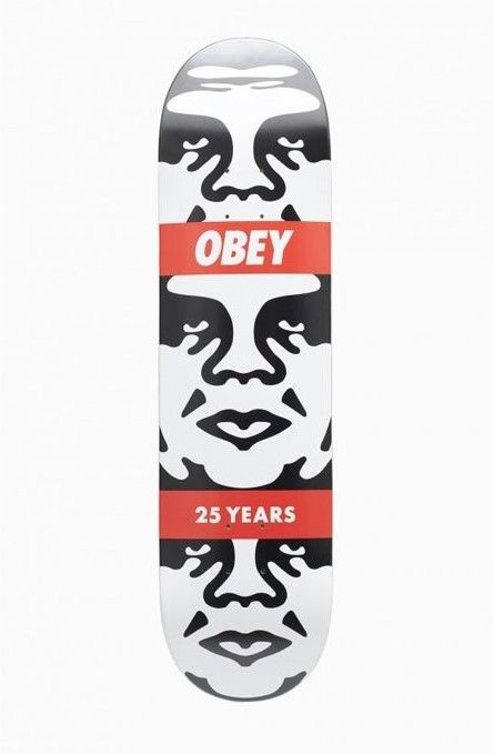 Shepard Fairey (OBEY) - Andre 3 Face Skateboard Deck | 25 Year Edition