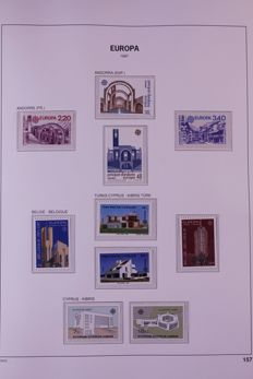 Europa Stamps 1987/1991 - Collection in album