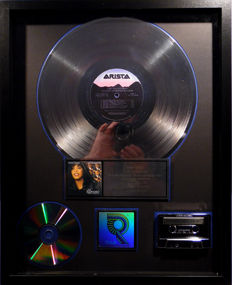 Whitney Houston - Bodyguard - real US RIAA Platinum Music Award ( goldene Schallplatte)  - original Sales Music Record Award ( Golden Record )