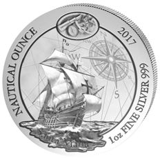 Rwanda - 50 Francs - Santa Maria Nautical Ounce - first edition for the 525th anniversary of the discovery of America - 999 silver coin