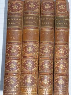 Lord Macauley - Critical and historical essays - 4 volumes - 1889