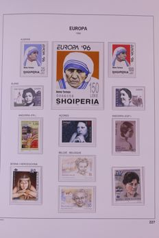 Europa Stamps 1996/1999 - Collection on Davo LX preprint sheets