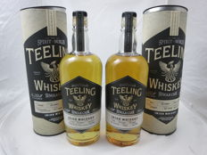 2 bottles - Teeling single cask Irish whiskey : 1x Cabernet Sauvignon 2004 cask 10191 and 1x Port 2004 Cask 912 - bottled for the Netherlands