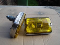 Two FOG LIGHTS by the brand CIBIE IODE 35, with a width of 150 mm from the 1970s and 1980s