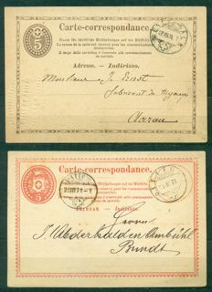 Switzerland Postal stationeries 1871/1961 - Collection of 81 covers and postcards