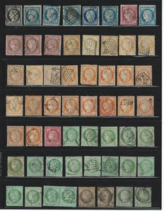France 1849/1953 - batch Ceres (115 pieces) and letters among which postcards, postal used and unused.