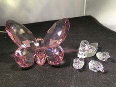 Swarovski - set of ducks - butterfly