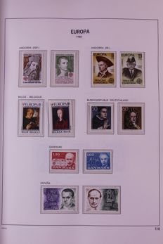 Europa Stamps 1980/1986 - Complete collection in Davo cristal preprint album