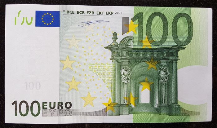 Europen Union - Ireland - 100 Euro 2002 - Duisenberg - without HOLOGRAM - White Box - ERROR note