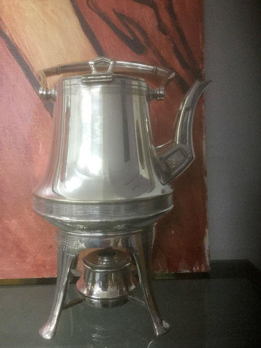 Art Deco antique Samovar Kettle, Germany, marked Henninger, circa 1930