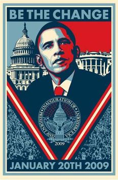 Shepard Fairey (OBEY) - Obama Be the Change