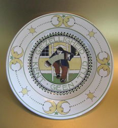 "Holland trademark - art deco ceramic wall plate - ""Dubai"""