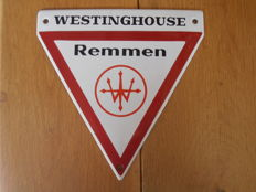 Enamel sign Westinghouse - original 1950s