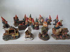 14 gnome figures and gnome cottages of rien poortvliet