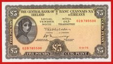 Ireland - Lady Lavery - 5 Pounds 1975 - Series A - Central Bank of Ireland - Pick 65c