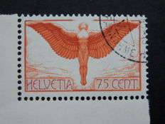 Switzerland 1936 - Selection of airmail stamps with Mi190 z