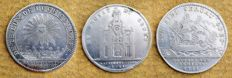 France - Louis XIV & Louis XV - Lot of 3 tokens - Silver