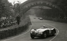 1953 Le mans 24 Hour Jaguar C Type Stirling  Moss   Photograph 54cm x44cm