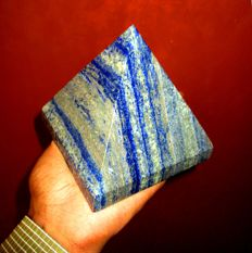 Large Blue Lapis Pyramid - 110 mm - 1800 gm