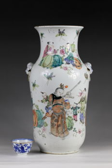 'famille rose' porcelain vase - China - 19th century