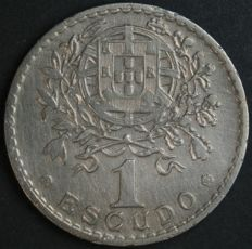 Portugal – 1 Escudo- 1944 – Portuguese Republic – Lisbon – Very Rare and Valuable and with No Reserve Price – Excellent – AG: 25.09