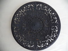 Antique Buderus Cast Iron wall plate, Mythological Features Gothic Victorian