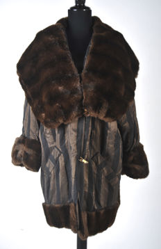 Vintage Christian Dior coat with faux fur collectors piece