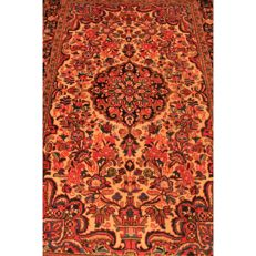 Schöner Alter Handgeknüpfter Perser Teppich Sarough Saruk Lillian Made in Iran 215x140cm