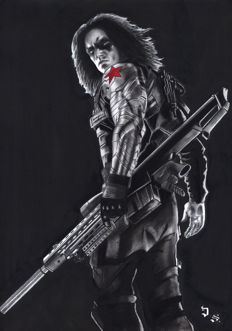 Diego Septiembre - Original Drawing - The Winter Soldier