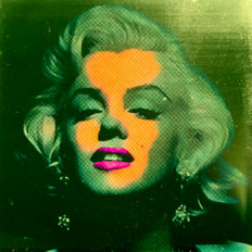 Felix von Altersheim - Marilyn Monroe - Silver Algae Green - Pop Art PUR